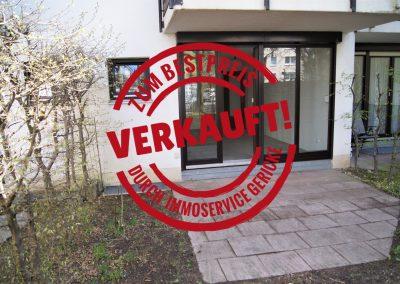 Verkauft: Charmantes 1-Zimmer-Appartement mit Terrasse und Gartenanteil in Moosach // SG-234